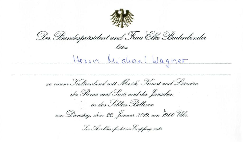 Einladung des Bundespräsidenten